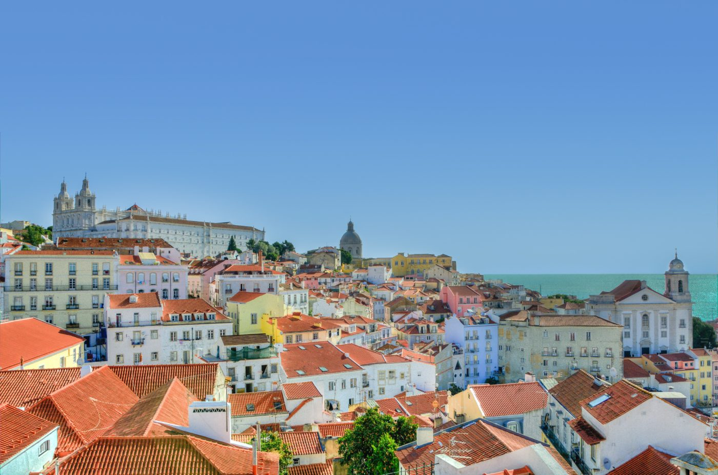 City houses in Lisbon
