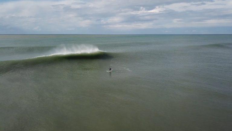 Surfing in Kalo Nero, Greece