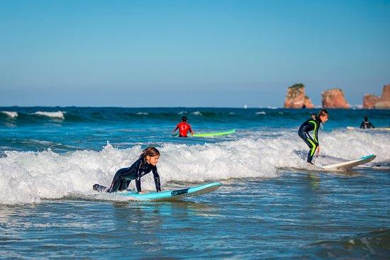 Beginner surf Hendaye