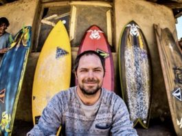 Ryan with surfboards